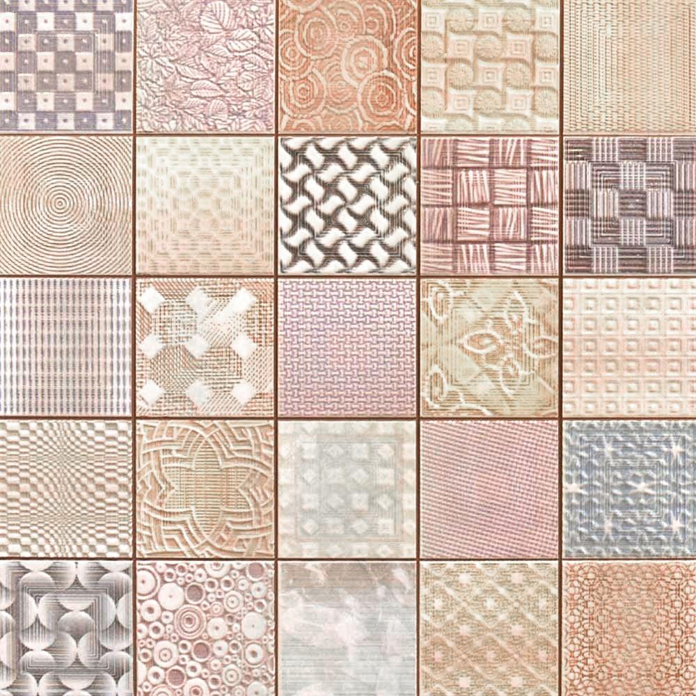 Fabric Tiles Patchwork Mosaic Effect Tiles 333x333x9mm Tiles